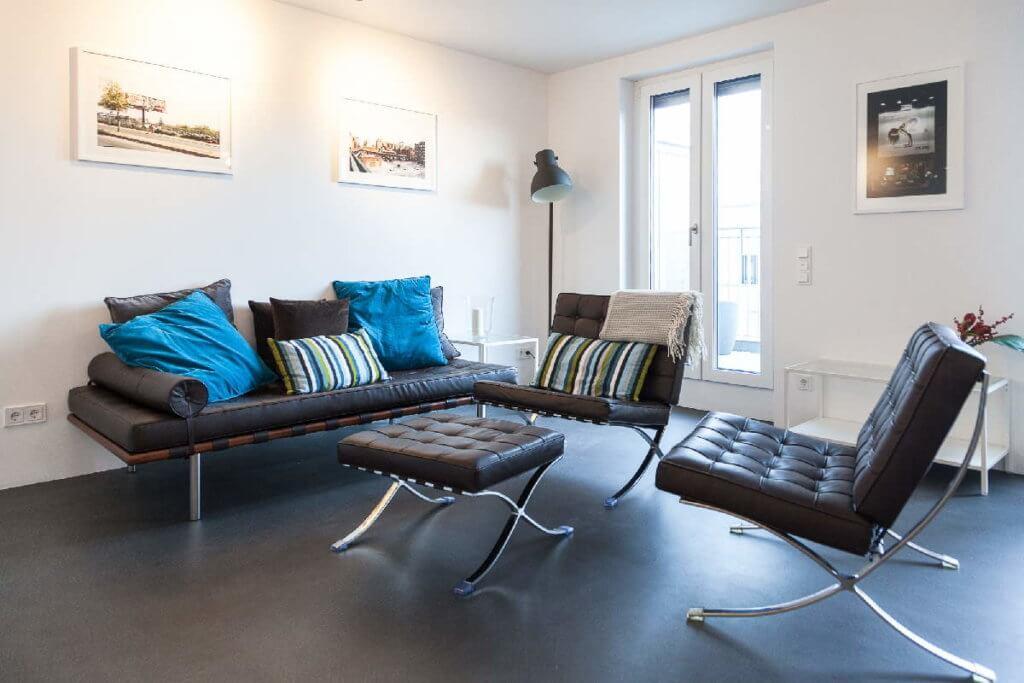 2.5-Zimmer-Wohnung auf Zeit für Expats zu mieten in 60326 Frankfurt